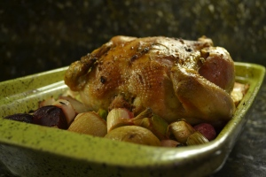 Garlic Thyme Roasted Chicken