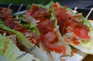 shredded chicken BLT