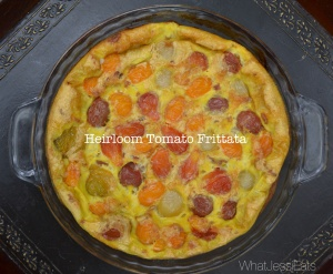 Whole30 Week 3 WhatJessiEats.com Heirloom Tomato Fritatta