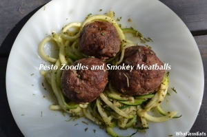 Zoodles and Smokey Meatballs